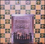 tiled fireplace - click to enlarge